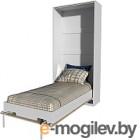 Шкаф-кровать Интерлиния Innova V90 (бетон/белый)