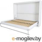 Шкаф-кровать Макс Стайл Wave 36мм 160x200 (белый базовый W908 ST2)