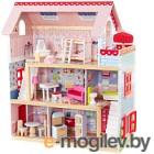 Кукольный домик Kid Kraft Открытый коттедж / 65054-KE (с мебелью)