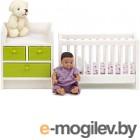 Комплект аксессуаров для кукольного домика Lundby Кровать с пеленальным комодом / LB-60209900