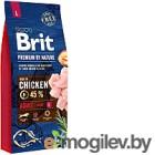 Корм для собак Brit Premium by Nature Adult L / 526468 (15кг)