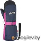 Варежки горнолыжные Reusch Happy Mitten / 4985520 4466 (р-р 4, Dress Blue/Pink Glo)