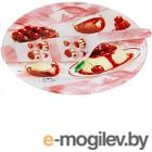 Блюдо для торта Zibo Shelley Ягодный десерт / S3010/2PDQ X014 (с лопаткой)