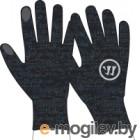 Перчатки хоккейные Warrior Knitted Gloves / MG738125-BK (M/L, черный)