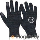 Перчатки хоккейные Warrior Knitted Gloves / MG738125-BK (XL/XXL, черный)