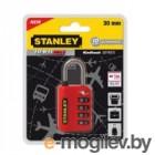 Замок с 4х значным кодом 30мм,красный Stanley S 742-058