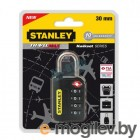 Замок с 4х значным кодом 30мм,черный Stanley S 742-057