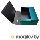Папка архивная на резинке Silwerhof Perlen 311916-75 полипропилен 1мм корешок 120мм A4 зеленый металлик