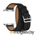 Lyambda Meridiana Кожаный ремешок в два оборота для Apple Watch 38/40 mm LWA-01-40-BK Black