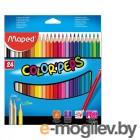 Карандаши цветные Maped Colorpeps 24 цвета 183224