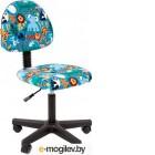 Кресло детское Chairman Kids 104 (черный пластик/зоопарк)