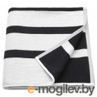КИННЕН, Банное полотенце, белый/черный, 70x140 см 004.393.26