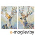 ПЬЕТТЕРИД, Картина, Разноцветный олень, 50x70 см 804.382.43
