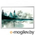 БЬЁРКСТА, Картина с рамой, Акварель, цвет алюминия, 78x118 см 292.984.82