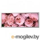 БЬЁРКСТА, Картина с рамой, Розовый пион, цвет алюминия, 140x56 см 092.978.36