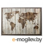 БЬЁРКСТА, Картина с рамой, карта мира, цвет алюминия, 200x140 см 192.072.70