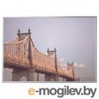 БЬЁРКСТА, Картина с рамой, мост, цвет алюминия, 200x140 см 492.978.39