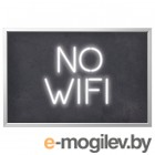 БЬЁРКСТА, Картина с рамой, No wifi, цвет алюминия, 118x78 см 792.978.85