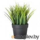 ФЕЙКА, Искусственное растение в горшке, д/дома/улицы трава, 9 см 604.339.44
