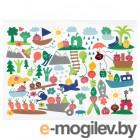 МЭТВРО, Салфетка под приборы, орнамент «фрукты/овощи», разноцветный, 40x30 см 104.269.36