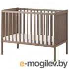 СУНДВИК, Кроватка детская, серо-коричневый, 60x120 см 904.212.18