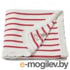 рёдхаке, одеяло детское, в полоску, белый/красный, 80x100 см 604.402.37