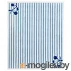 гулспарв, ковер, в полоску синий, белый, 133x160 см 104.271.01