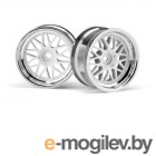 Шоссейные 1:10. HRE C90 WHEEL 26mm CHROME/WHITE (6mm OFFSET/2pcs).