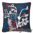МОЛАРБОРСТЕ, Чехол на подушку, темно-синий, разноцветный, 50x50 см 504.474.37