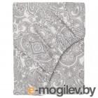 ЙЭТТЕВАЛЛМО, Простыня натяжная, белый, серый, 90x200 см 104.365.96