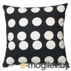 КЛАРАСТИНА, Чехол на подушку, черный, белый, 50x50 см 504.438.30