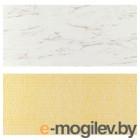 ЛИЗЕКИЛЬ, Настенная панель, двусторонний под белый мрамор, с рисунком, 119.6x55 см 503.971.64