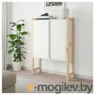ИВАР, Шкаф с дверями, сосна, белый, 89x30x124 см 492.482.07