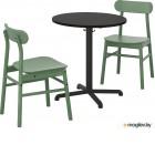 СТЕНСЕЛЕ / РЁННИНГЕ, Стол и 2 стула, антрацит, антрацит зеленый 092.971.53