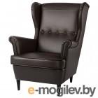 СТРАНДМОН, Кресло с подголовником, Гранн/Бумстад темно-коричневый 504.532.54