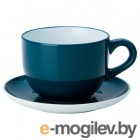 НОРДБИ, Чашка чайная с блюдцем, темная бирюза, 73 сл 804.630.58