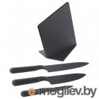 ЭМФЁРА, 3 ножа+подставка, черный 603.494.79
