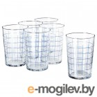 спорадиск, стакан, прозрачное стекло, клетчатый орнамент, 46 сл 604.158.98