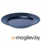СТРИММИГ, Тарелка десертная, каменная керамика синий, 21 см 504.263.74