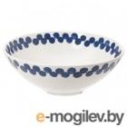 МЕДЛЕМ, Миска, белый/синий, с рисунком, 19 см 504.096.09