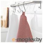 ТРОЛЛЬПИЛ, Полотенце кухонное, белый, красный, 50x70 см 303.720.08