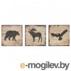БЬЁРНАМО, Картина, 3 шт, животные, 25x25 см 603.813.65