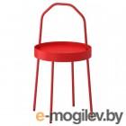 БУРВИК, Придиванный столик, красный, 38 см 503.555.26