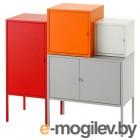ЛИКСГУЛЬТ, Комбинация д/хранения, серый/белый, оранжевый/красный, 95x92 см 992.440.42