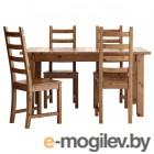 стурнэс / каустби, стол и 4 стула, морилка,антик, 147 см 392.298.03