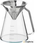 ХОГМОДИГ, Кувшин и фильтр д/заваривания кофе, прозрачное стекло, нержавеющ сталь, 0.6 л 503.589.64