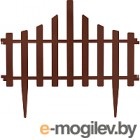 Изгородь декоративная Алеана Заборчик 114042 (темно-коричневый)