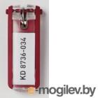 Durable для ключей с инфо-окном Key Clip 6шт красный