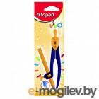 Циркуль Maped Essentials пластиковый с универсальным держателем карандаш в компл. с безопасной иглой