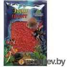 Грунты для аквариумов и террариумов Цветная мраморная крошка Эко грунт 2-5mm 1kg Red 500027